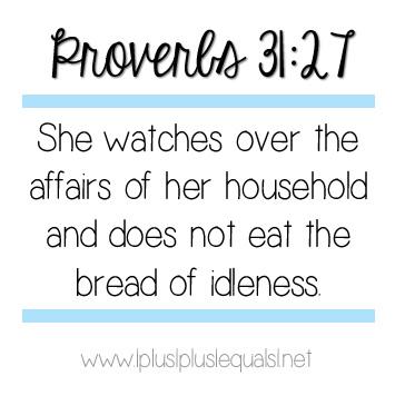 Proverbs 31 27