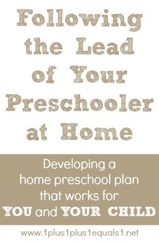 Following the Lead of Your Preschooler at Home