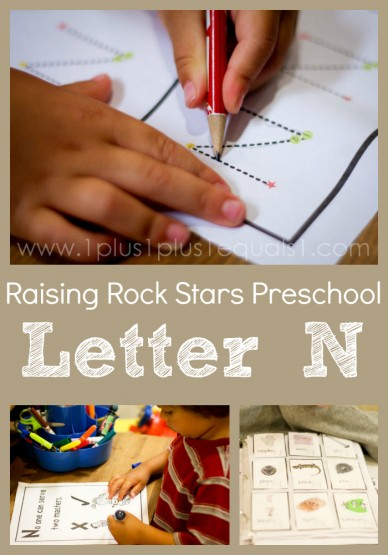Raising Rock Stars Preschool Letter N