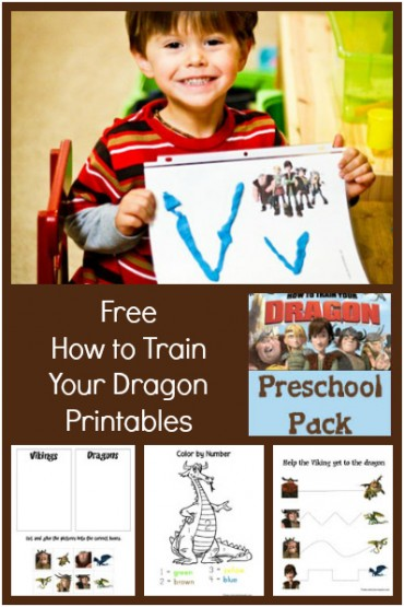 How To Train Your Dragon Printables