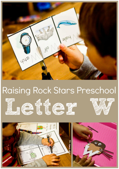 Raising Rock Stars Preschool Letter W
