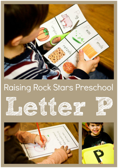 Raising Rock Stars Preschool Letter P
