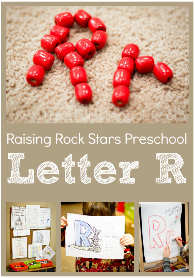 Raising Rock Stars Preschool Letter R