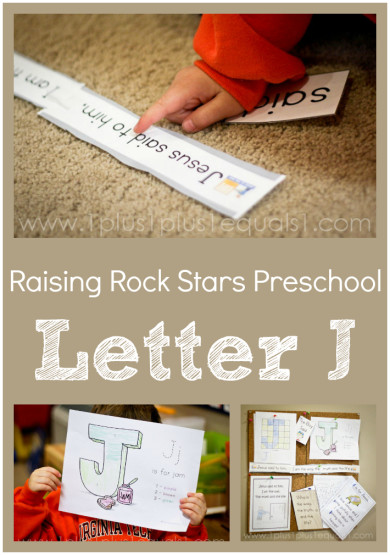 Raising Rock Stars Preschool Letter J