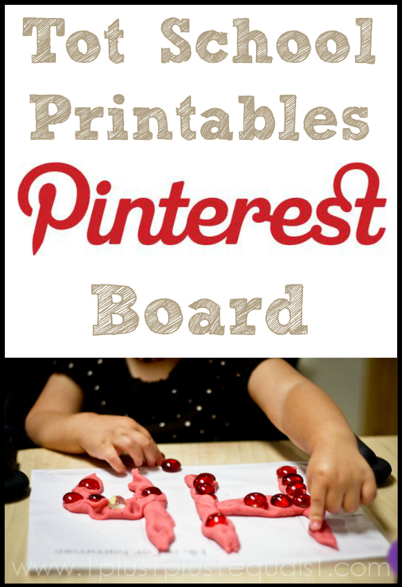 Tot School Printables Pinterest Board
