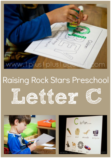 Raising Rock Stars Preschool Letter C