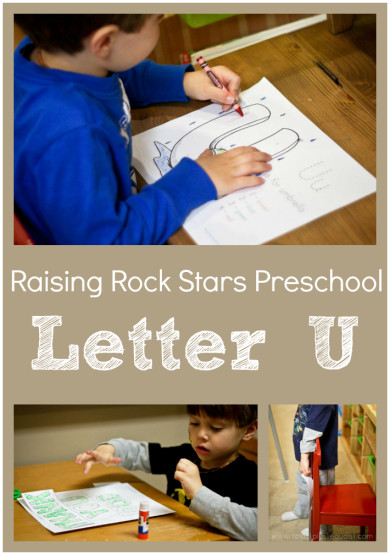 Raising Rock Stars Preschool Letter U
