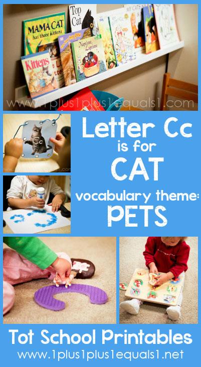 Tot School Printables C is for Cat