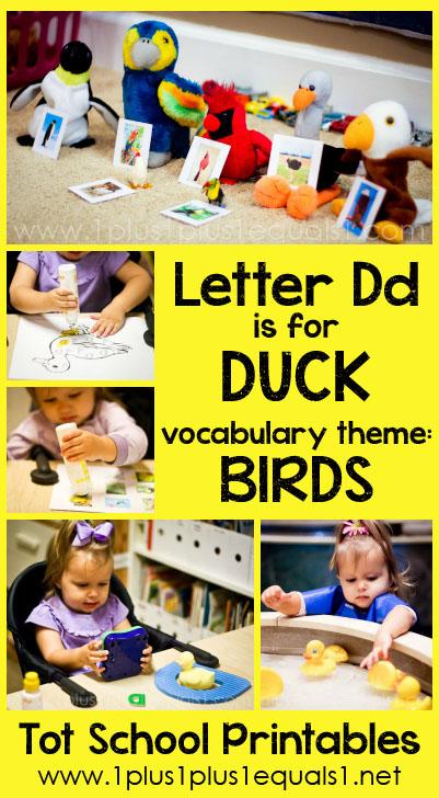 Tot School Printables D is for Duck