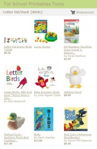 Tot School Printables Toys and Books Letter D