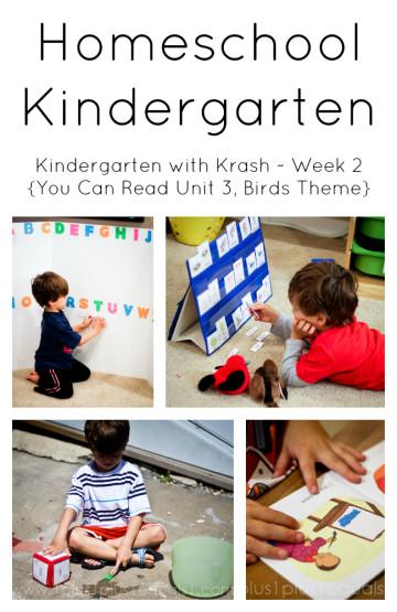 Homeschool Kindergarten Week 2