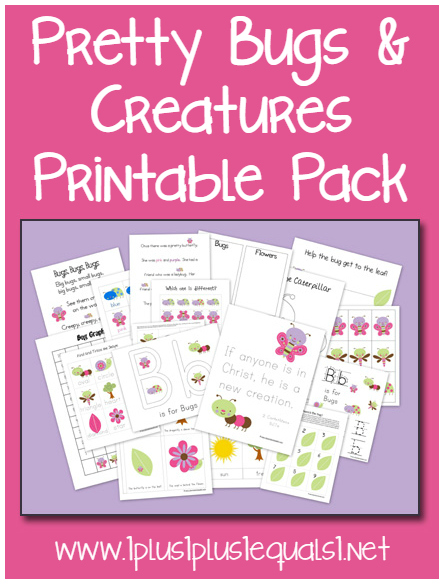 Pretty Bugs Printable Pack