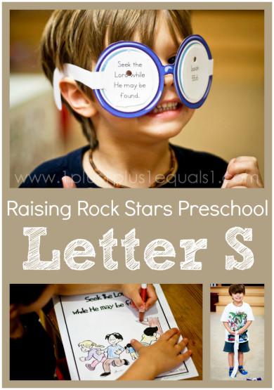 Raising Rock Stars Preschool Letter S