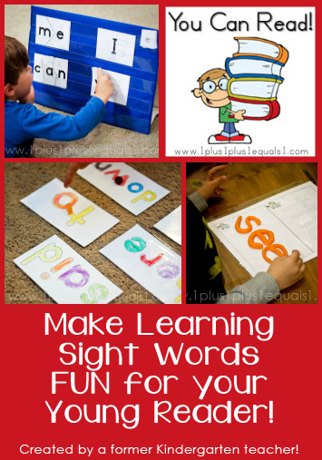 You Can Read Sight Word Printables