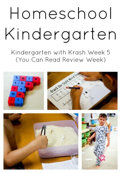 Homeschool Kindergarten Week 5