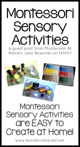 Montessori Sensory Activities at Home