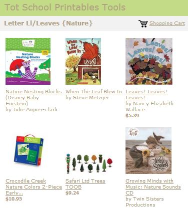 Tot School Printables Toys and Books Letter L
