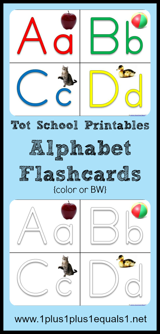 Tot School Printables Alphabet Flashcards