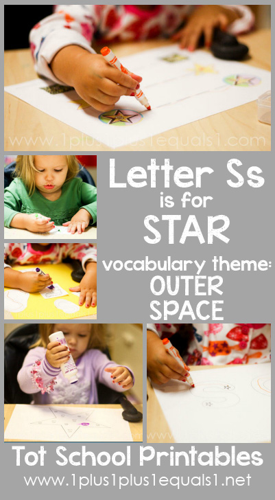 Tot School Printables S is for Star