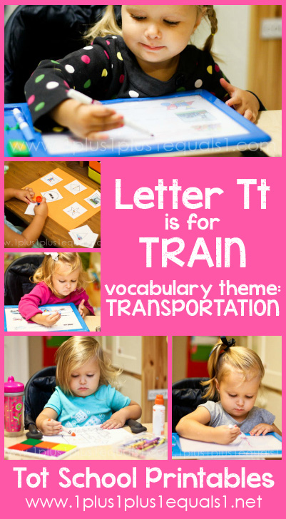 Tot School Printables T is for Train