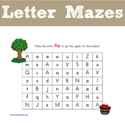 photo about Printable Mazes for Kindergartners named Alphabet Mazes - 1+1+1\u003d1