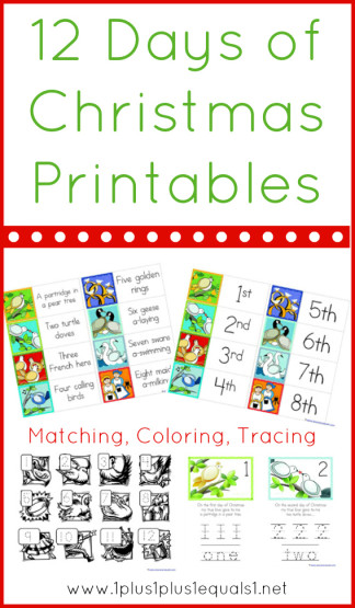 Stupendous image with 12 days of christmas printable templates