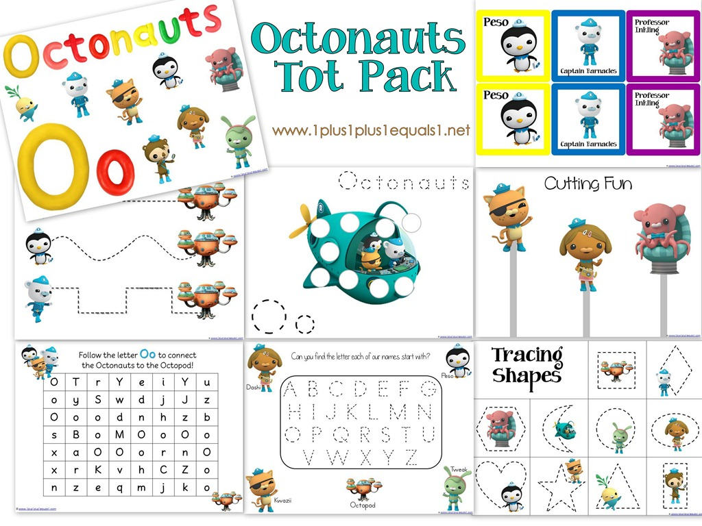 photograph relating to Octonauts Printable identified as Octonauts Printables - 1+1+1\u003d1