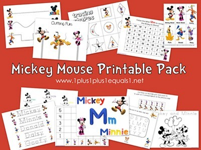 Mickey Mouse Printable Pack 1 1 1 1