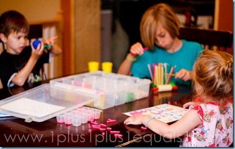 play dough busy box