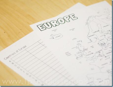 Europe Printables