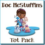 Doc McStuffins Tot Pack Button