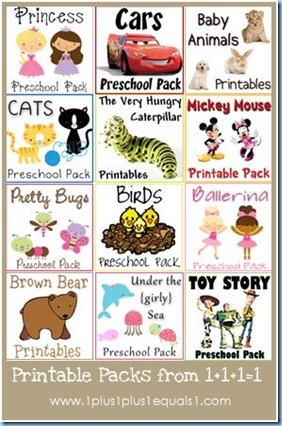 Free Theme Based Printable Packs