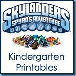 Skylanders Kindergarten Printables