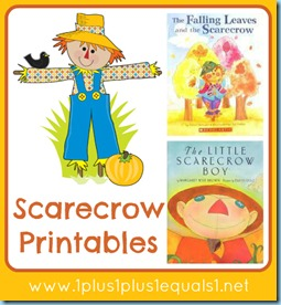 image relating to Printable Scarecrow named Scarecrow Printable Pack - 1+1+1\u003d1