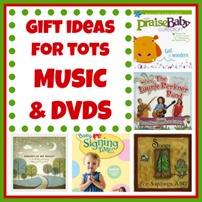 Gift ideas for Tots MUSIC and DVDs