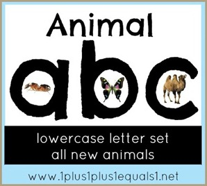 Animal abc lowercase letters