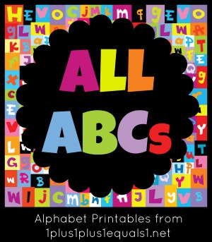 Colored pattern with letters of alphabet