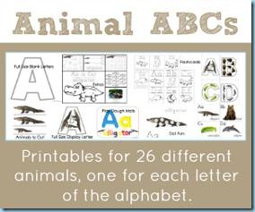 Animal ABCs Printables