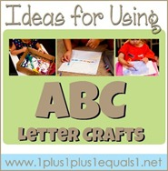 Ideas for Using ABC Letter Crafts