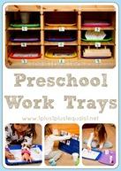 Preschool Work Trays