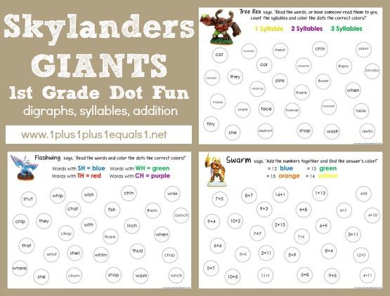 Skylanders Dot Fun