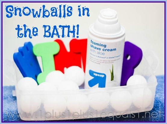 Snowballs in the bath