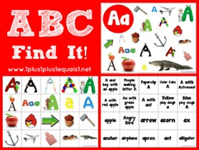 ABC Find It Letter Aa