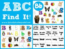 ABC Find It Letter Bb