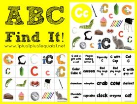 ABC Find It Letter Cc