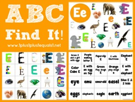 ABC Find It Letter Ee