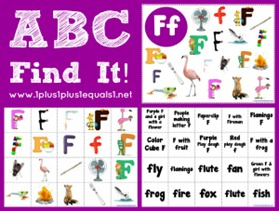 ABC Find It Letter Ff