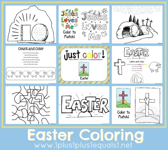 Just Color ~ Easter - 1+1+1=1
