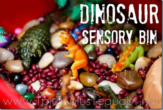Dinosaur Theme Sensory Bin