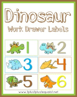 Dinosaur Work Drawer Labels